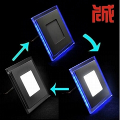 round/square led panel light double color three fuction 3years warranty