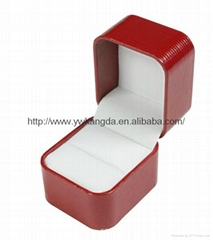 Good quality leatherette plastic box for ring for earring for necklace