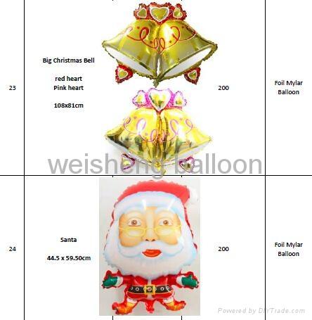 Christmas Series Helium Foil Mylar Balloons 1