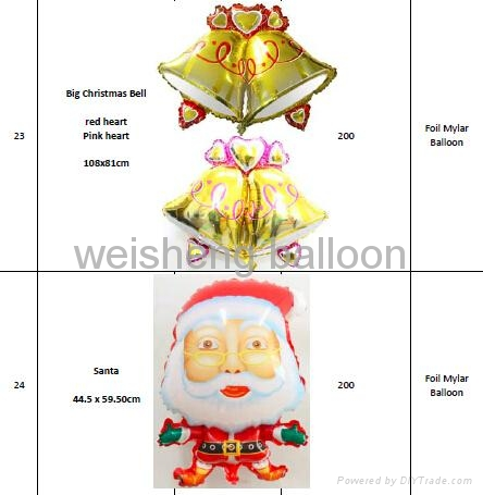 Christmas Series Helium Foil Mylar Balloons 4