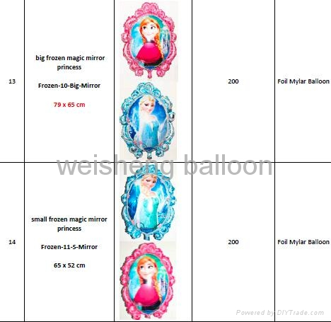 Frozen and KT Series Foil Mylar Balloons  2