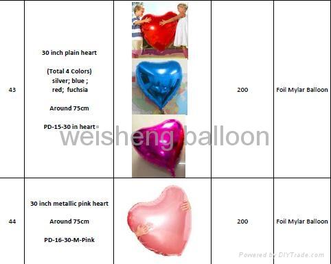 Various Plain & Solid Decoration Heliun Foil Mylar Balloons 1