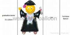Graduation & Doctor Foil Mylar Balloons