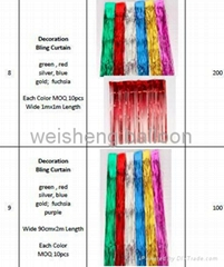Decoration Bling Curtain