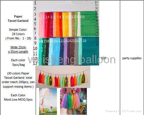 Paper Tassel Garland and Paper Pom Poms Balls 2
