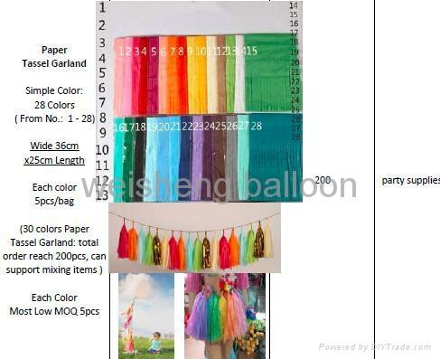 Paper Tassel Garland and Paper Pom Poms Balls 4
