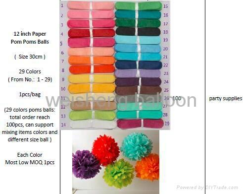 Paper Tassel Garland and Paper Pom Poms Balls 5
