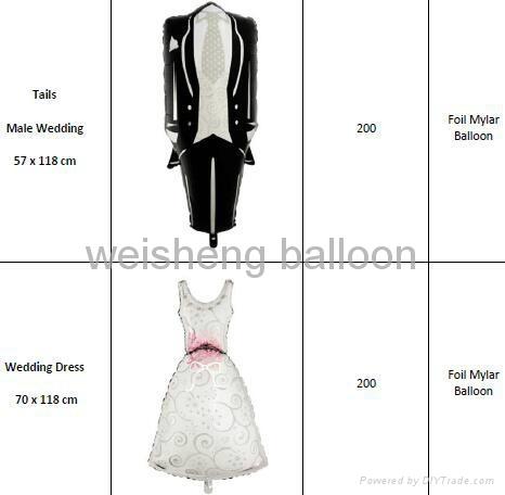 Love & Wedding & Valentine's Day Foil Mylar balloons 1