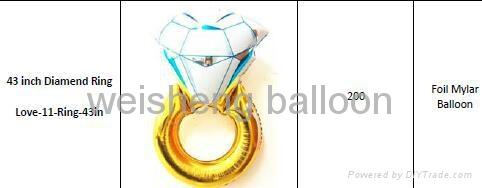 Love & Wedding & Valentine's Day Foil Mylar balloons 4
