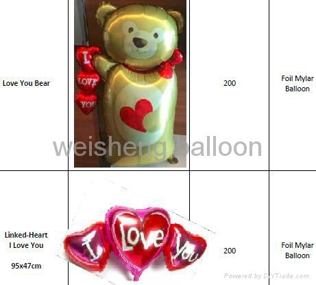Love & Wedding & Valentine's Day Foil Mylar balloons 5