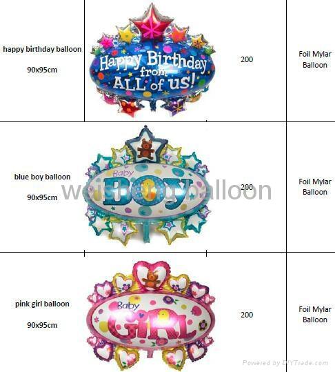 Birthday,Party Decoration Helium Foil Mylar Balloons  4