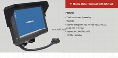 GPS Car Tracking Device for 7 Inch  windows CE 6.0 Mobile Data Terminal
