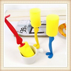 Kitchen Cleaning Tool Sponge Brush For Wineglass Bottle Coffe Tea Glass Cup Mug