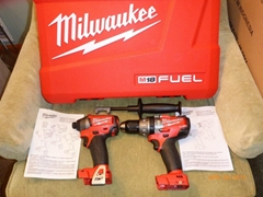 Milwaukee M18 Fuel 2604-20 Hammer Drill & 2653-20 Impact Driver