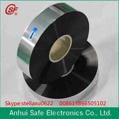 Zinc – Aluminum alloy metallized polypropylene film with heavy edge and gradient
