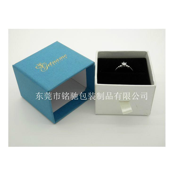 东莞包装厂定制优质蓝色套装首饰包装盒, 4