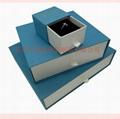 东莞包装厂定制优质蓝色套装首饰包装盒, 2