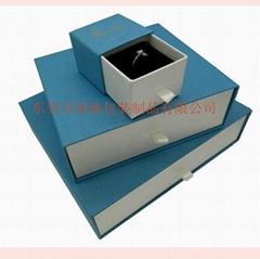 東莞包裝廠定製優質藍色套裝首飾包裝盒,