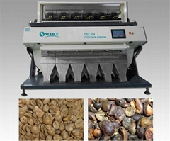 Popular coffee bean color sorter door to door installation