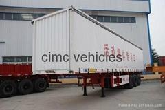 Cimc Manufacture Cheap Side Curtain Van Semi Trailer