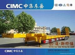 Cimc Tri-Axle Low Bed Semi Trailer