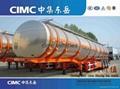 Aluminium fuel tanker semi trailer