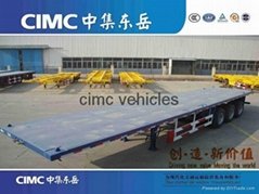 CIMC flatbed semi trailer