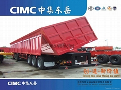 cimc side dump semi trailer