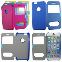 Pure color double window phone case from SAYWIN