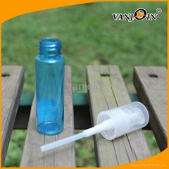 Blue Color PET Perfume Atomizer Bottle