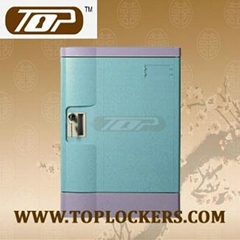 Four Tier Office Lockers ABS Plastic Blue