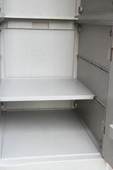 Four Tier School Lockers ABS Plastic Fuchisia