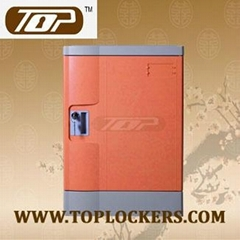 Four Tier Club Lockers ABS Plastic Orange