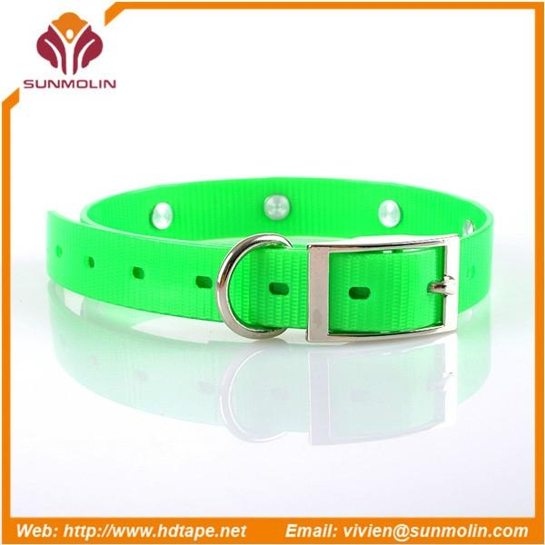 durable tpu coated dog collars