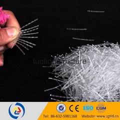 40mm curved PP fiber for concrete precast