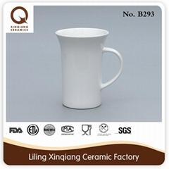 2015 cheap porcelain white ceramic mug