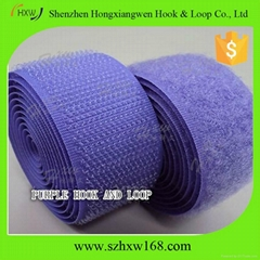 Purple -velcro hook and loop fastener tape
