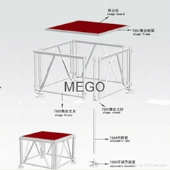 Aluminum alloy stage