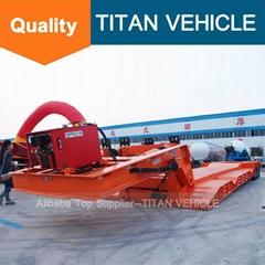 TITAN 80 ton front loading gooseneck lowboy trailer