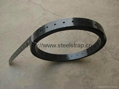Perforated steel strapping