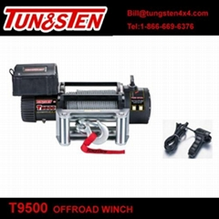 TUNGSTEN T9500 9500lbs electirc power China rescue truck winch with wire rope