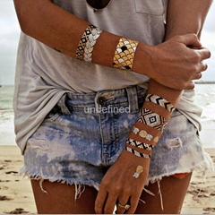 Fashion Body Art Metallic Gold Temporary Bracelet Jewelry Tattoos Wholesale