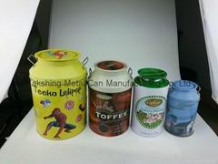 milk churn tin set