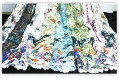 New Arrival Butterfly Digital Print garments fabrics  For Wedding Dress Fabrics
