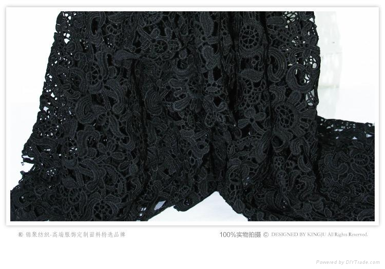 2015 High Quality French African Lace Fabric For Wedding Dresses 4
