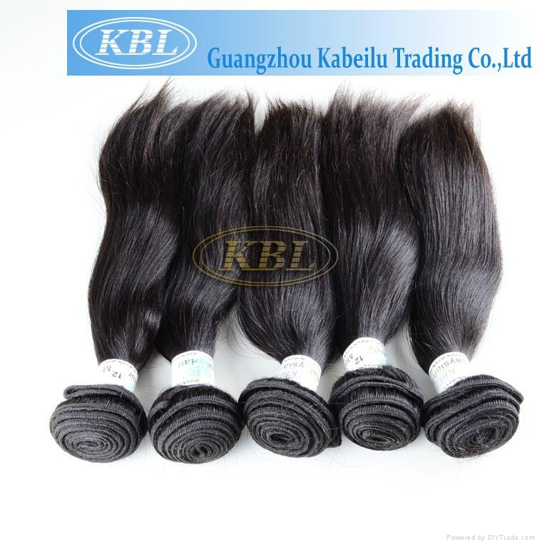 KBL Wholesale Virgin Malaysian Remy Hair Natural Straight Hair Extension 1