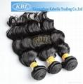 KBL Wholesale Hair Extensions, 100% Peruvian Virgin Human Hair Natural Color 3