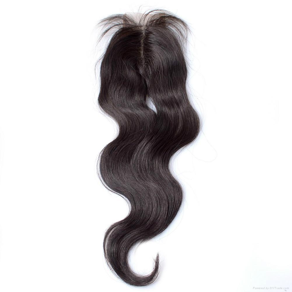 KBL Brazilian Virgin Human Hair Lace Top Closures 4*2.5  1