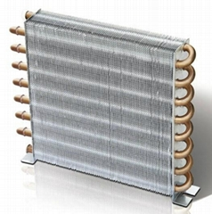 Copper fin condenser for cold room and