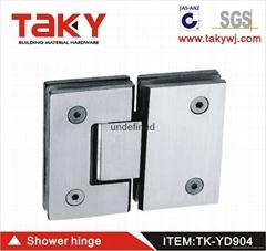 TK-YD904 glass to glass bathroom glass stainless steel hinge